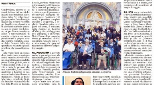 Pellegrinaggio a Lourdes. La forza dei sorrisi.