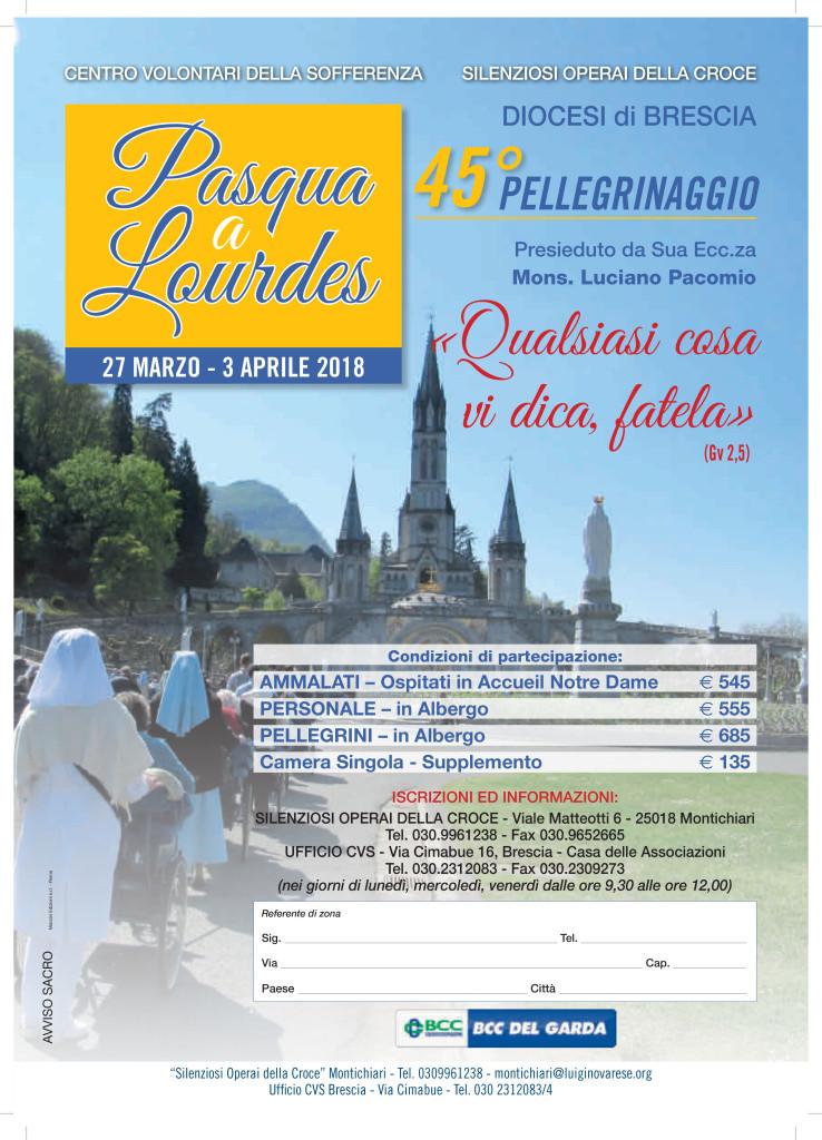 Pellegrinaggio Lourdes 2018